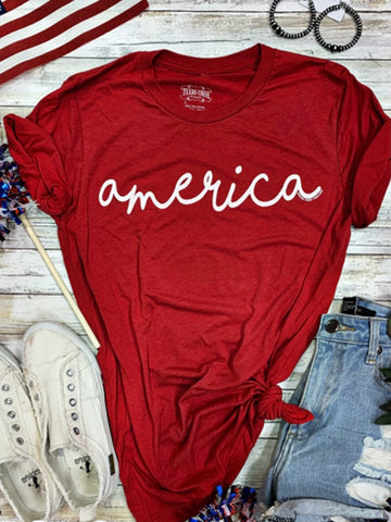 Red or Blue America Tee - PRE ORDER (Arrives in approx 3 weeks)