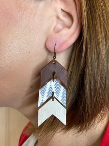 Canyon Ranch Genuine Leather Arrow Earring
