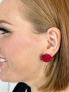 Red Confetti Stud Earring