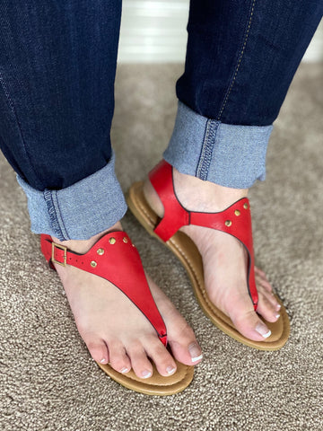 Red Lexie Sandal