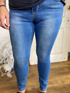 Medium Wash Royalty High Rise Skinny Jeans (Sizes 4-24W)