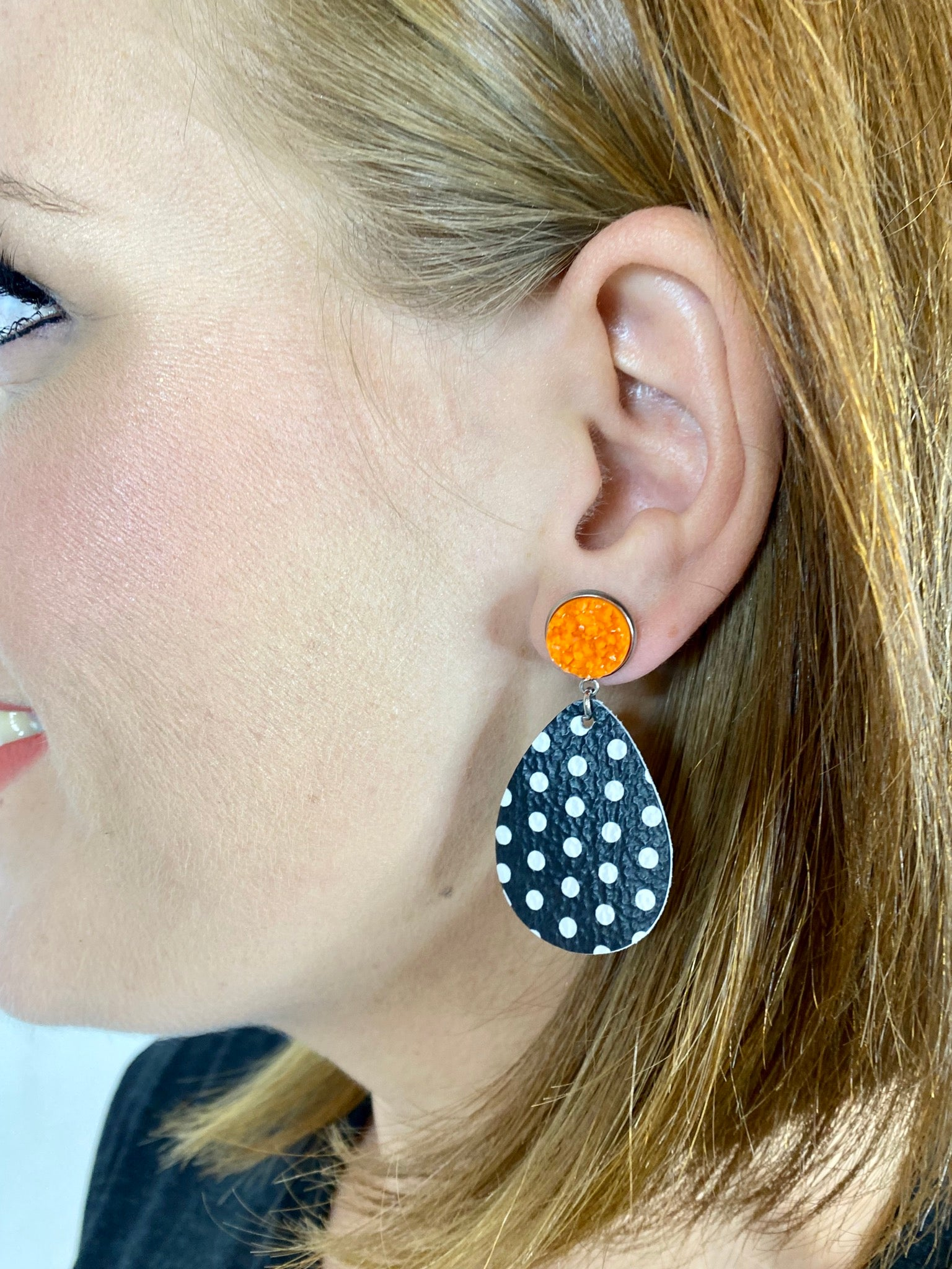 Halloween Polka Dot Dangles