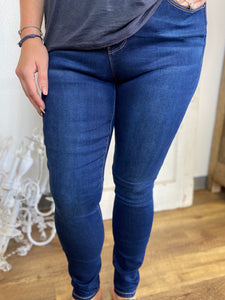 Dark Wash Royalty High Rise Skinny Jeans (Sizes 4-16)