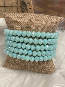 1 Strand Beaded Bracelet, Carribean Breeze
