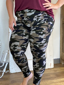 Camo Butter Ankle Leggings