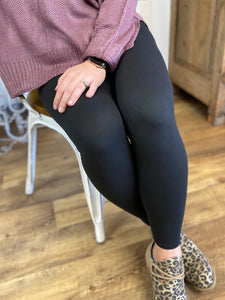 Black Butter Ankle Leggings