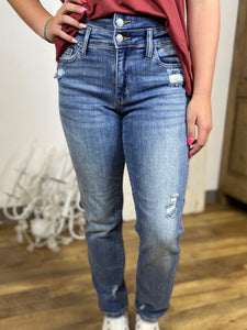 JB Double Waistband Relaxed Fit Jeans