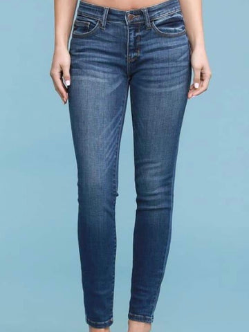 Judy Blue Medium Wash Handsand Skinny Jeans - Judy Blue