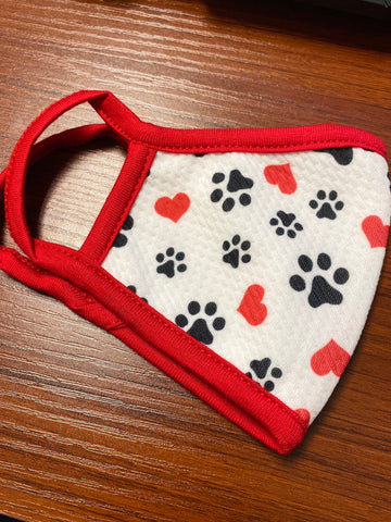 Kids Puppy Paw Face Mask
