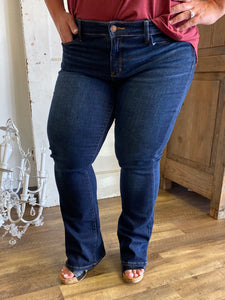 Dark Wash Boot Cut Jeans- Judy Blue