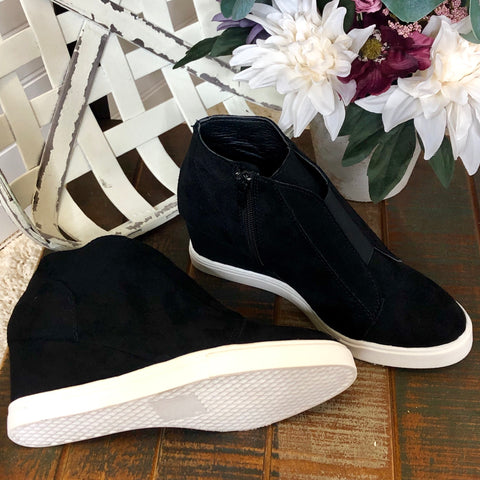 Black Sneaker Wedge