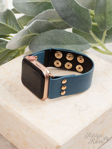 Blue 38/40 Leather Smart Watch Band