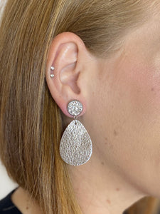 Silver Metallic Dangle Earrings