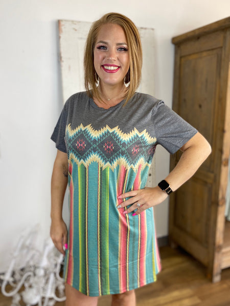 Shawshank Serape Dress