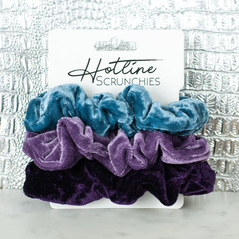 Sugar Plum Velvet Scrunchie Set