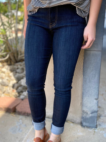JB High Waisted Dark Wash Skinny Jeans