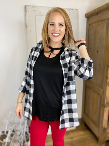 The Standard Plaid Flannel, Black and White