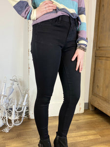 Black Non Distressed Skinny Jeans- Judy Blue  **RESTOCK**