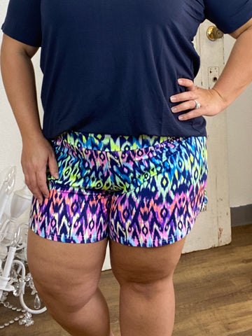 Rainbow Ikat Shorts