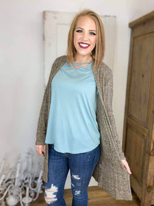 Casual Fetti Textured Cardigan with Pockets - All sizes available!!!