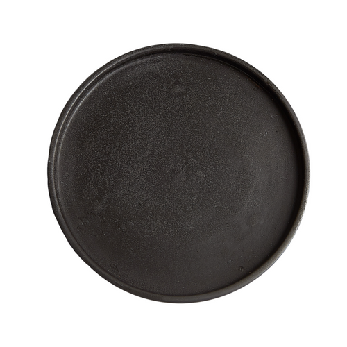 Dark Brown Shallow Plate
