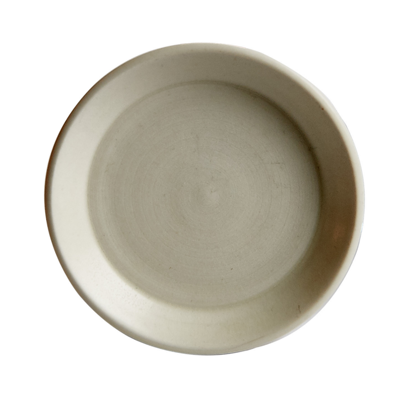 Sm Cream Shallow Bowl