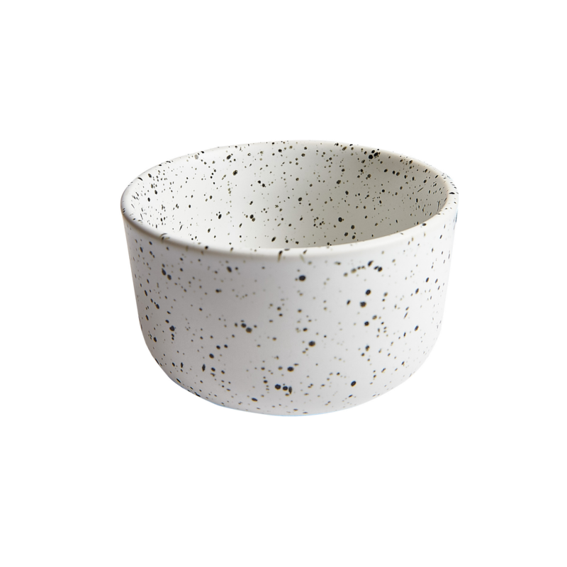 Speckled White Bowl