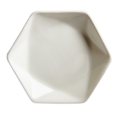 White Hexagon Bowl
