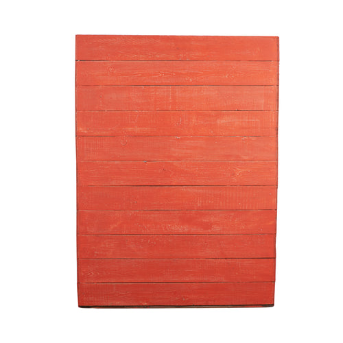 Lg Bright Orange Painted Wood