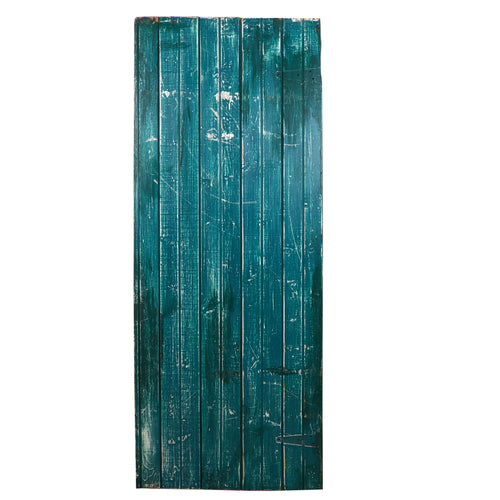 Lg Blue/Green Painted Wood
