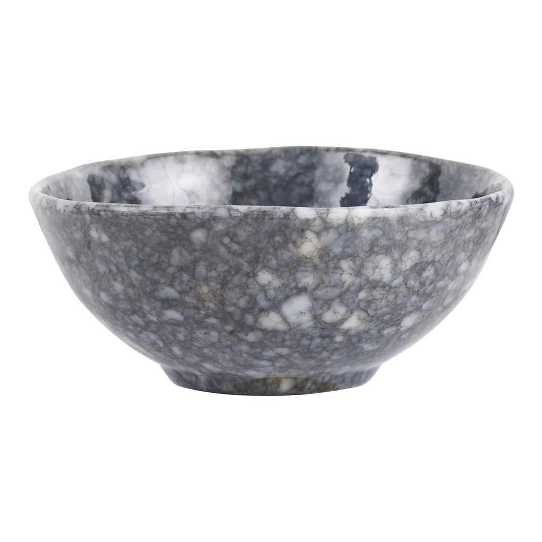 Md Grey Glossy Bowl With White Speckles