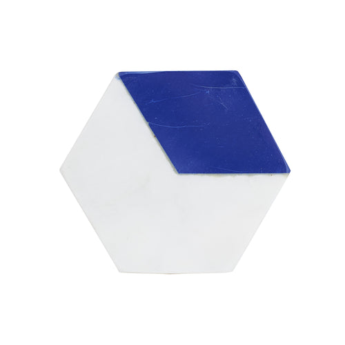 Marble Coaster With 1/3 Blue