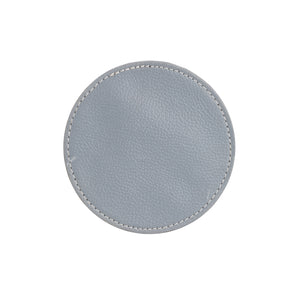 Grey Circle Leather Coaster
