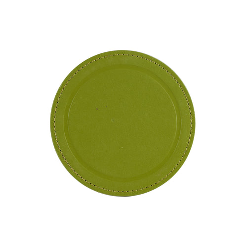 Green Leather Coaster