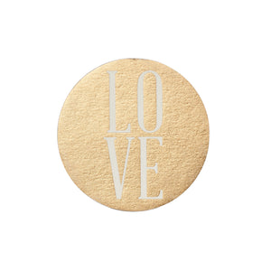 Gold Love Paper Coaster