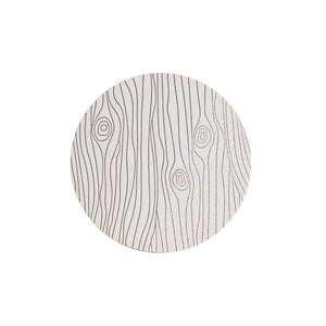 White Wood Pattern Paper Coaster