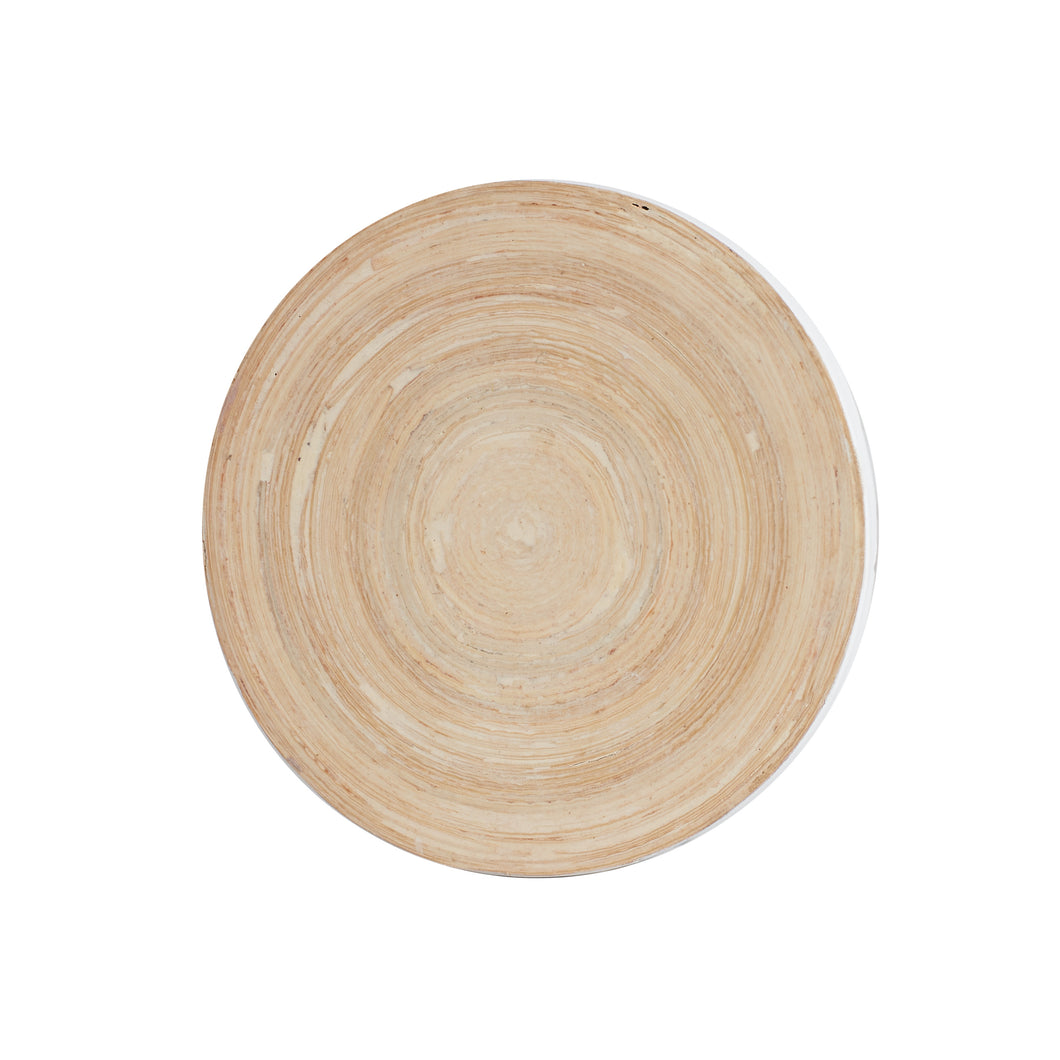 Wood Circular Coaster With White Edges
