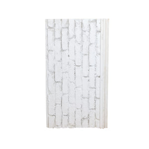 Sm White Brick Patterned Foam On Wood