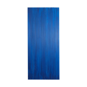 Lg Two-Toned Blue Painted Wood