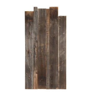 XL Dark Natural Barnboard Wall (2 Panels)
