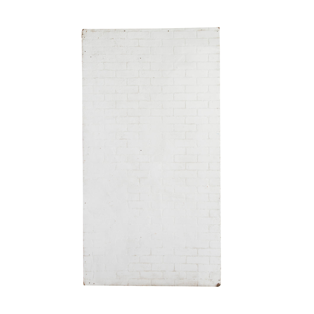 XL White Faux Brick Masonite Sheet