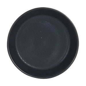 Sm Black Shallow Bowl