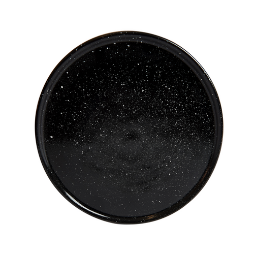Black Speckled Shallow Plate