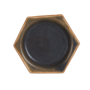 Black Hexagon Plate