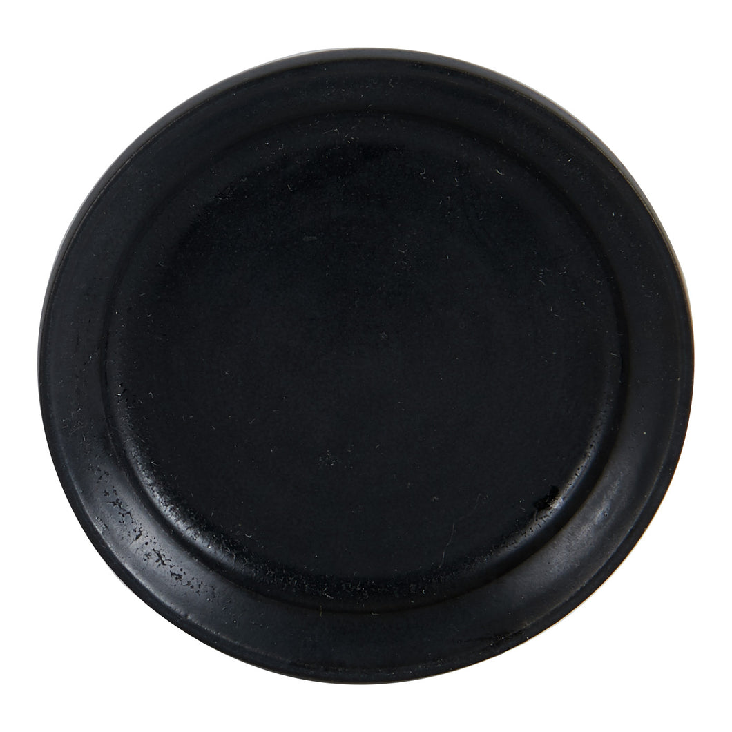 Sm Black Shallow Dish