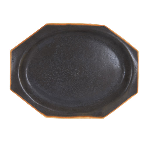 Black Hexagon Platter