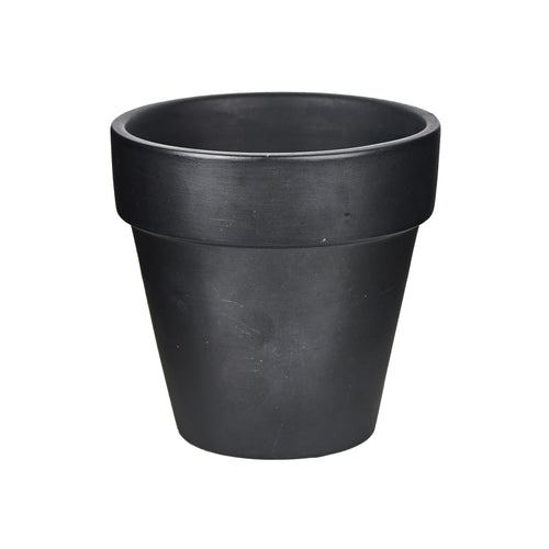 Sm Black Flower Pot