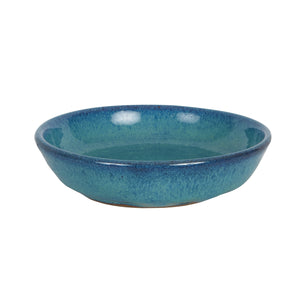 Md Blue Shallow Bowl