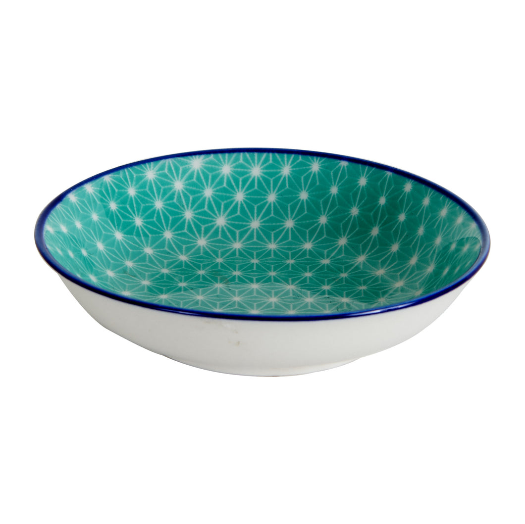 Sm Blue Bowl With Pattern