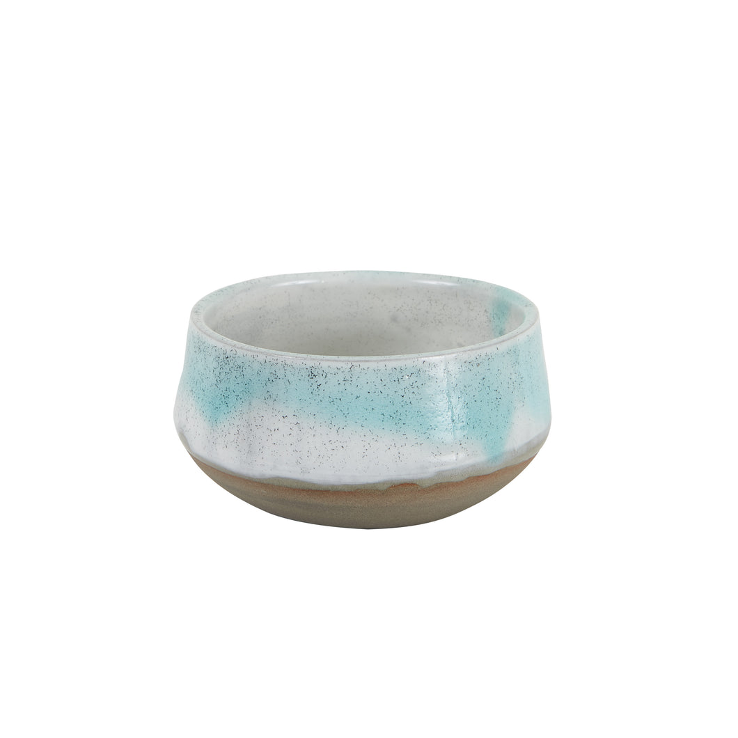 Md Blue Bowl With Brown Bottom